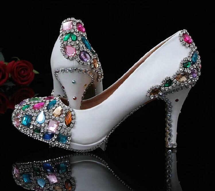 1a2016365a ᑎ‰Popular Handmade Sapatos de Casamento Branco sapatos de Noiva ...