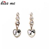 Aliexpress.com : Buy Alloy Crystal Heart Drop Earrings for