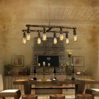 Loft Industrial Pipe Pendant Lights Silk Retro Style Cafe