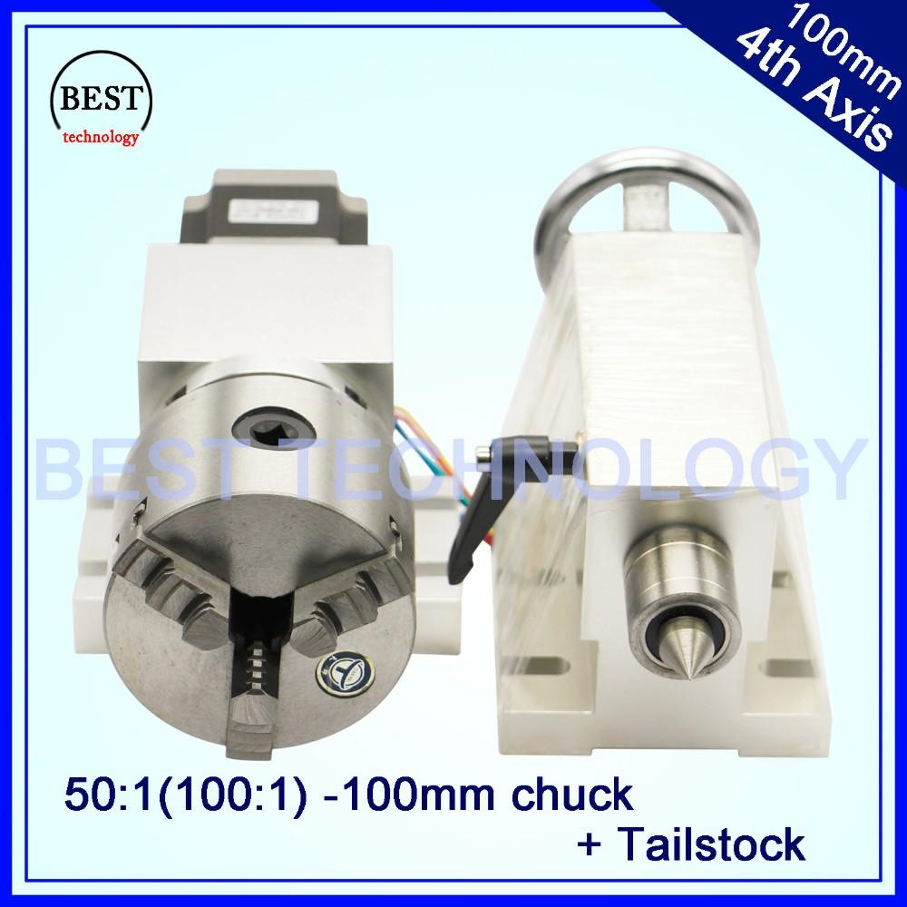 100mm 3 Mandíbula CNC cuarto Eje CNC cabezal divisor/Eje de Rotación ...