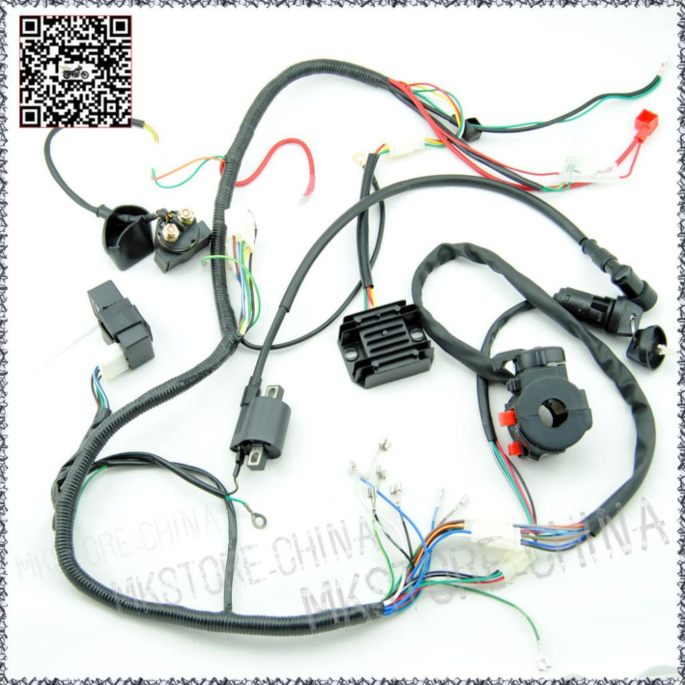 hight resolution of wiring diagram for chinese quad 50cc the wiring diagram 250cc quad electrics 150 200cc zongshen lifan ducar razor cdi coil wire harness free shipping wiring