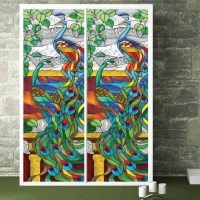 Stained Glass Window Film Peacock | www.imgkid.com - The ...