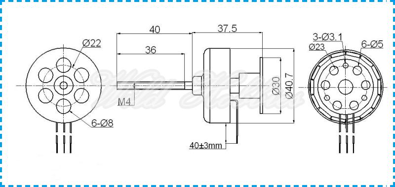 Hobbyking hexTronik DT750 Brushless Outrunner 750kv RC