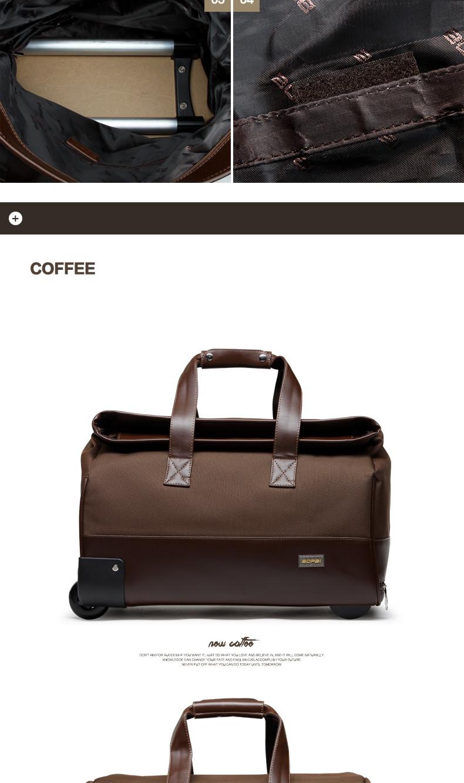6514996702 ̿̿̿(•̪ )Unisex Trolley Travel Bags On Wheels Waterproof men s ...