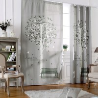 Room Curtains Ready Made Curtains Living Room Rustic Short ...