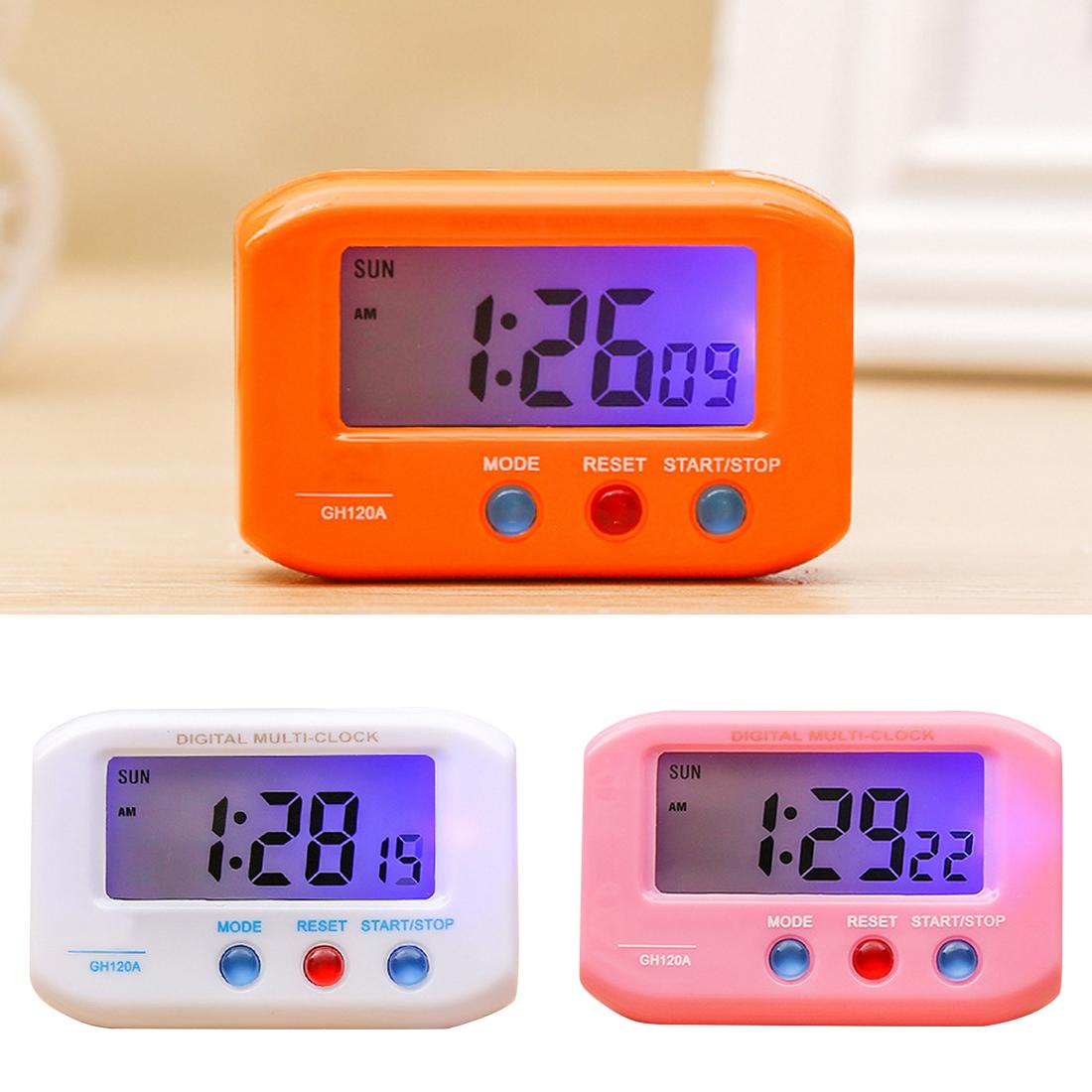 ab1f896dc7f 1 pc Portátil de Viagem Eletrônico Digital Alarme Cronômetro LCD Relógio  Com Snooze despertador Relógio Eletrônico Automotivo