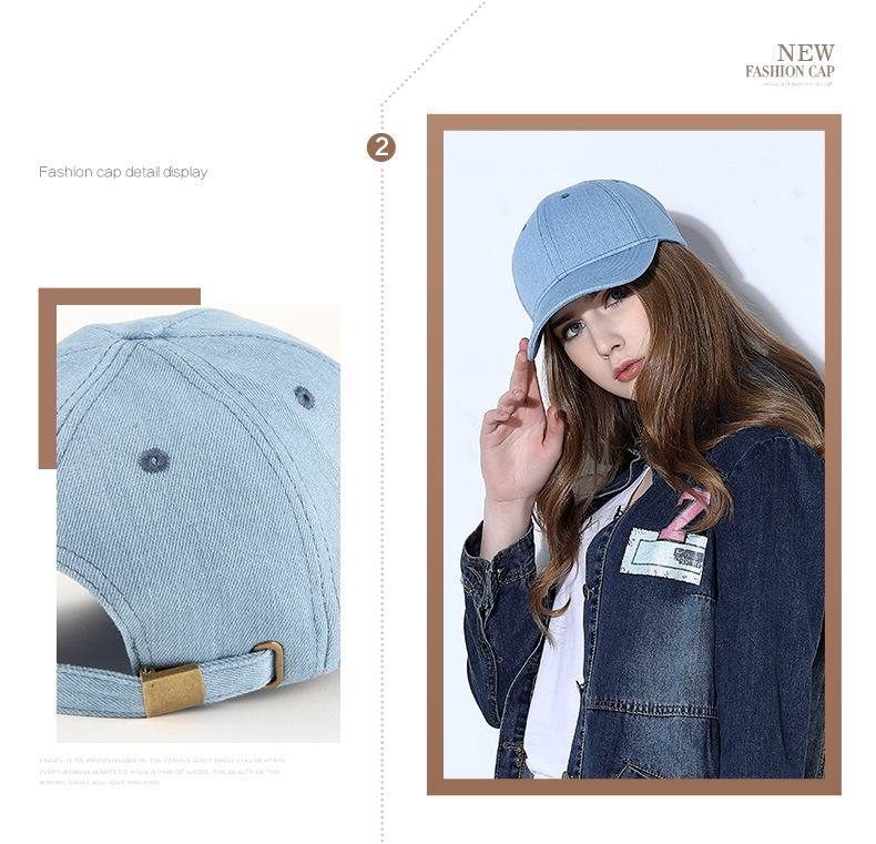 ᗜ LjഃSunbonnet Bone Brim Women Casual Denim Lady Fashion Outdoor ... 7d950971b08d