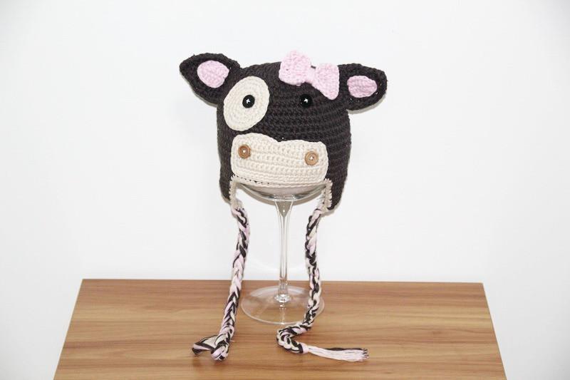 ⊰Envío libre, sombrero de vaquero del bebé del ganchillo, earflap ...