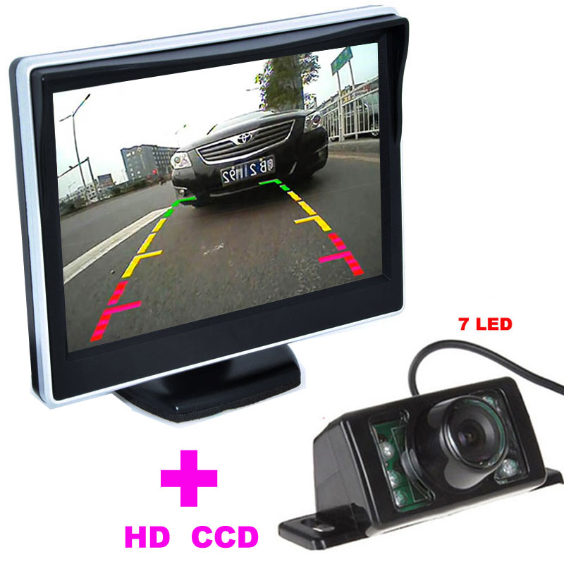 ⑧Auto Parking HD CCD 7LED Car Rearview Camera+5 TFT LCD ...