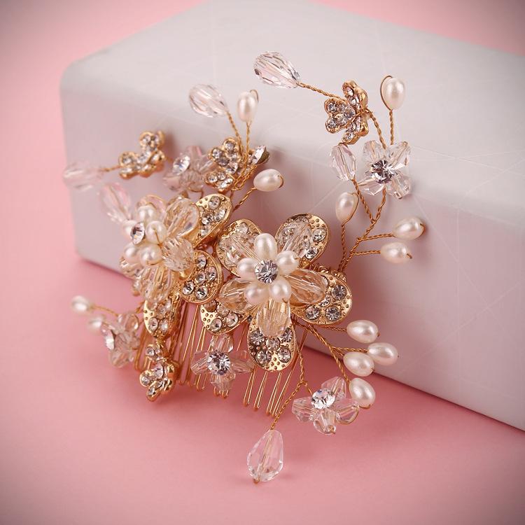highend gold jewellery handmade rhinestone tiara