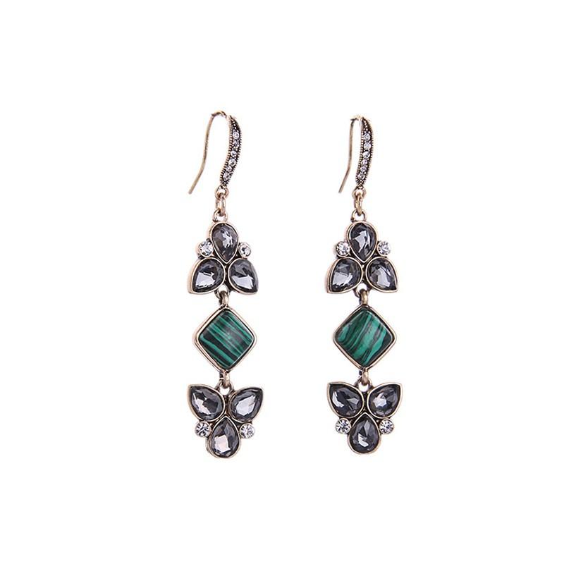 ac7cfe727e73 Nuevo Llega Bohemia Estilo Étnico Pendientes de Gota Colgante de Perlas De  Cristal y Piedra Natural para Las Mujeres