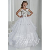 2015 Off Shoulder Holy Communion White Pageant Dress ...