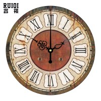 Decorative Wall Clock With Moving Parts ...