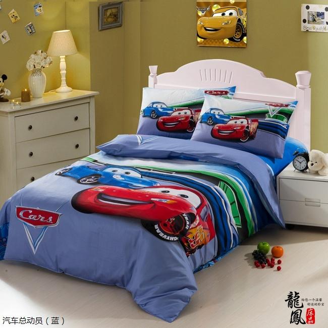 Kids Race Car bedding set boys queen twin size cartoon
