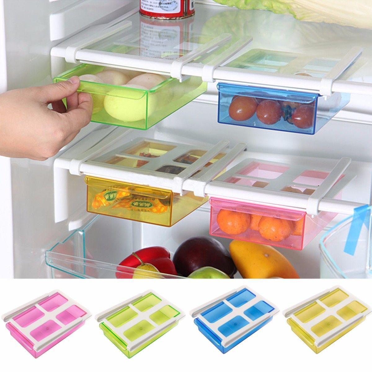Slide Kitchen Fridge Freezer Space Saver Organizer Storage