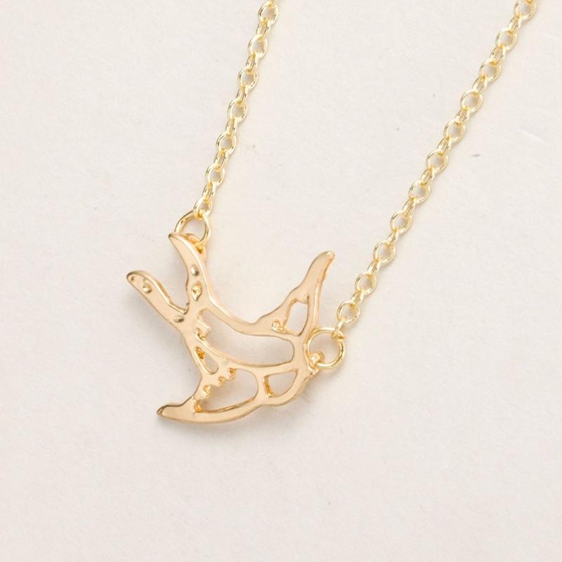new style f91e3 b3c23 Yiustar 10 unids lote nueva Swallow Collar para mujeres lindo Animal Simple  del pájaro colgante collar de Gargantilla de joyería de moda elegante  minúscula