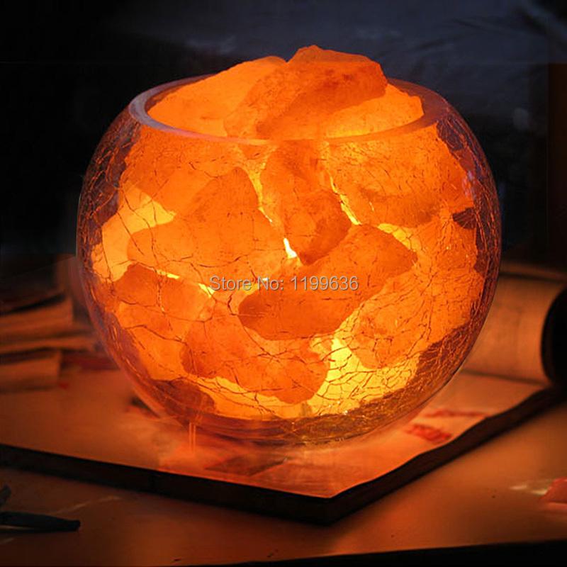 Natural crystal salt lamp surpassingness fashion lamp