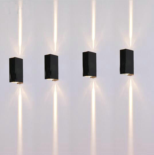 6w Outdoor Led Wall Lamps Square Waterproof sconce Up and