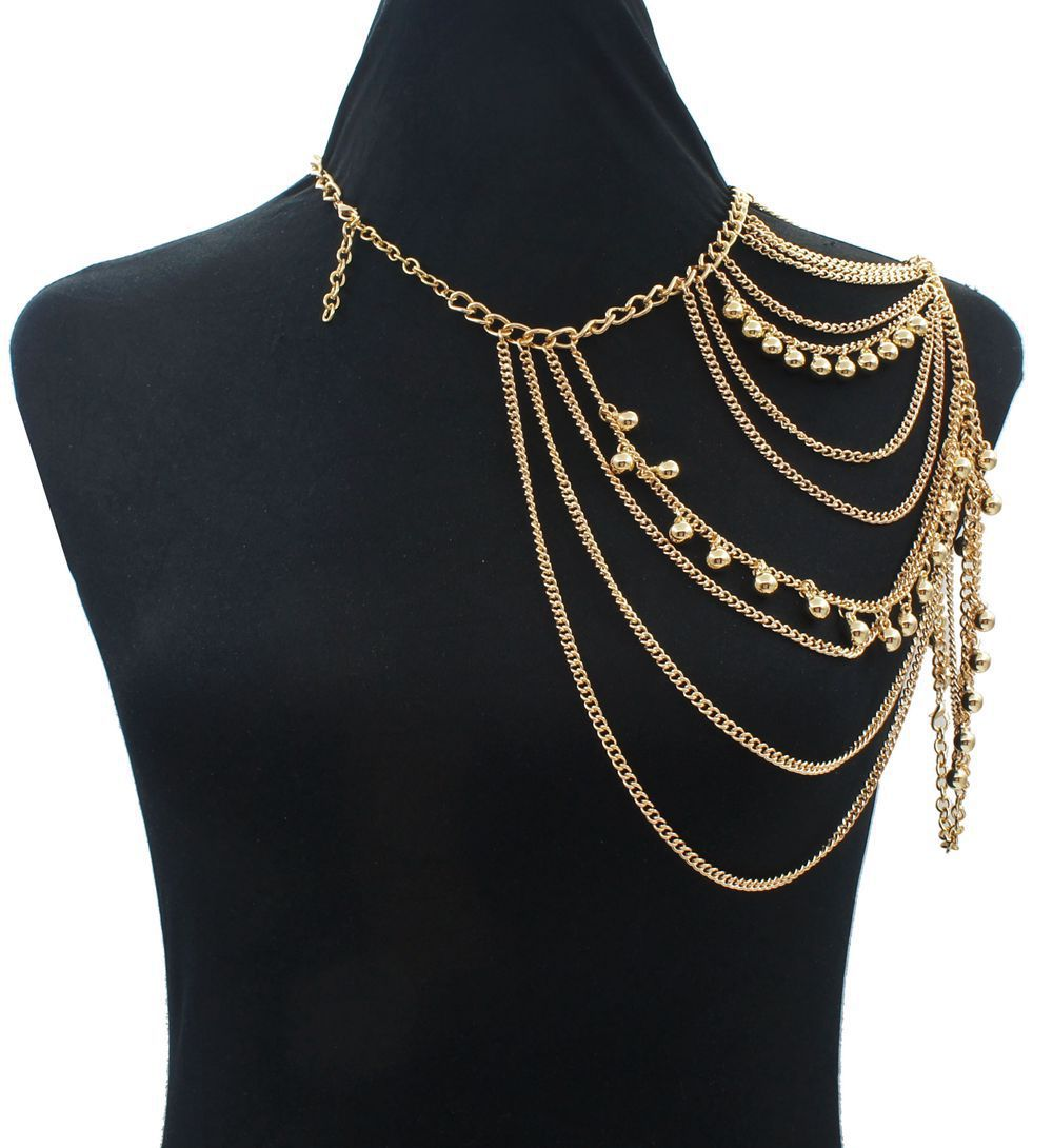 Shadela Shoulder Bell Body Chain Jewelry Belly Necklace 2007 Kawasaki Zzr1400 Abs Ninja Zx14 Electrical Diagram Undefined