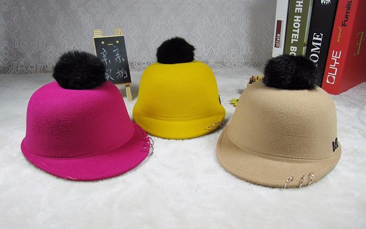 2016 nuevo niño sombrero ecuestre Otoño e Invierno conejo gorra grande niño  y niña bebé niños sombrero de lana niños gorros gorras 2e937c615f48