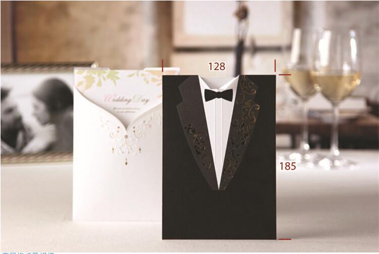 1 Sztuk Spersonalizowane Bride Groom Zaproszenia ślubne