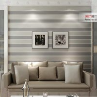 3D Wall Paper Stripe Wallpaper Striped Flocking Bedroom or ...