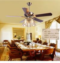 American art copper shade 52inch ceiling fan lightsTiffany ...