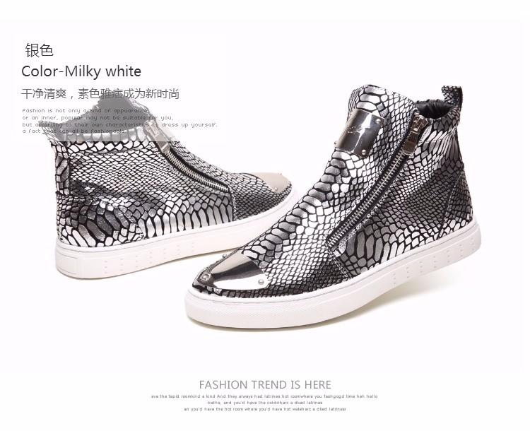ᐊSkate versión de la tendencia de cuero botas duantong Martin botas ...