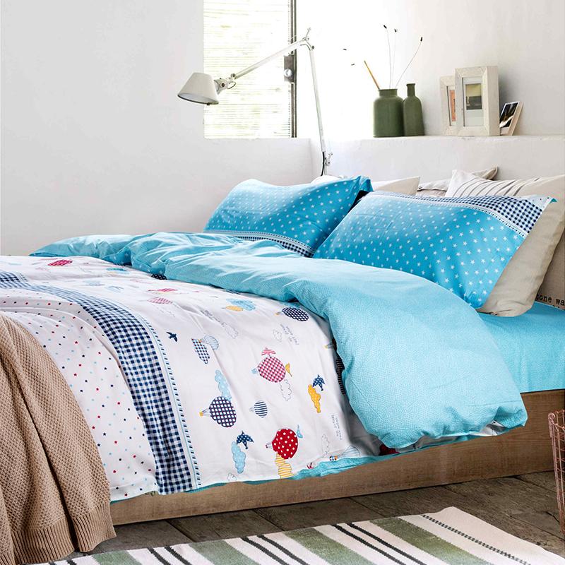 Fire Balloon Duvet Cover Bedding For Teens White Bed