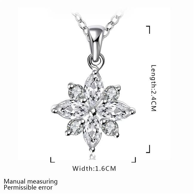 N581 Обручение <b>Jewelry</b> с серебряным покрытием цветок кулон ...