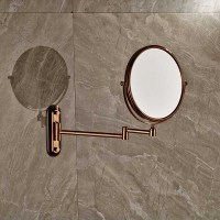 Rose Golden Make Up Magnifying Mirror Bathroom Wall ...