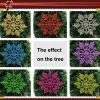 Christmas Decoration Supplies10cm Glitter Snowflake