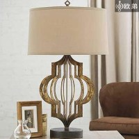 American vintage wrought iron table lamp living room