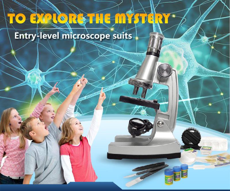 1200x kinder mikroskop set beleuchtete kinder mikroskop kit