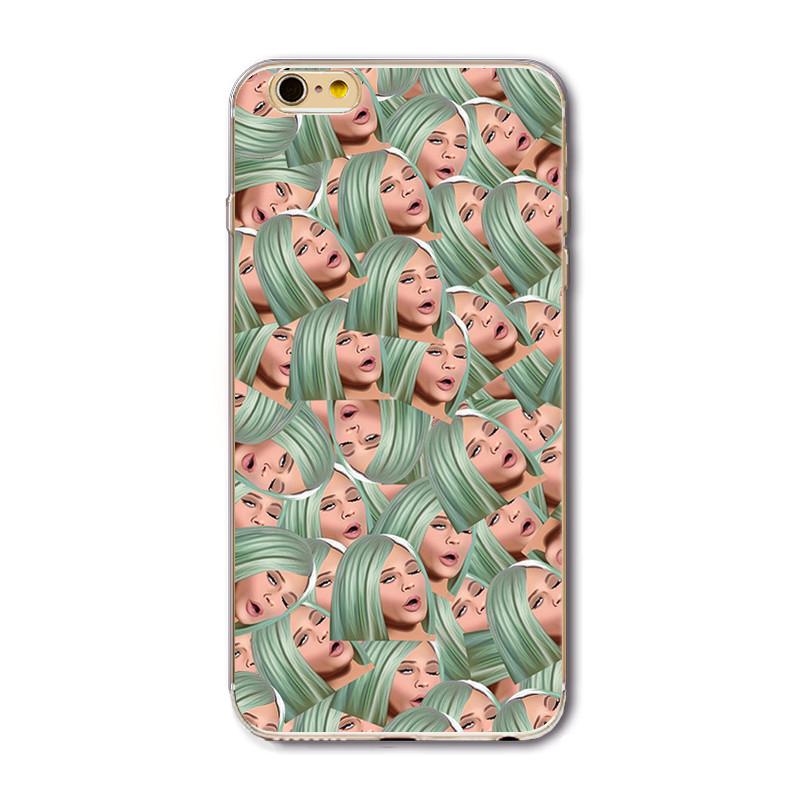 החדש מקרה טלפון עבור iphone 7 6 6 5 5 סה 6plus 6splus 5C 4 4s פרצוף מצחיק Kimoji קים קרדשיאן מקרים ברורים Ultrathin כיסוי