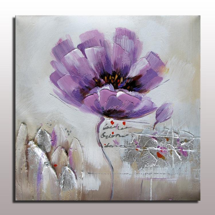 Flor moderna pintura al óleo sobre lienzo de lino pintura al óleo ...