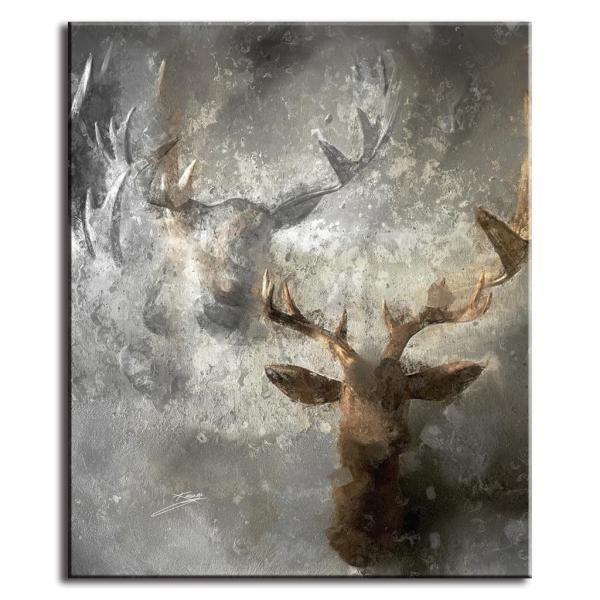 Abstract Oil Painting Deer
