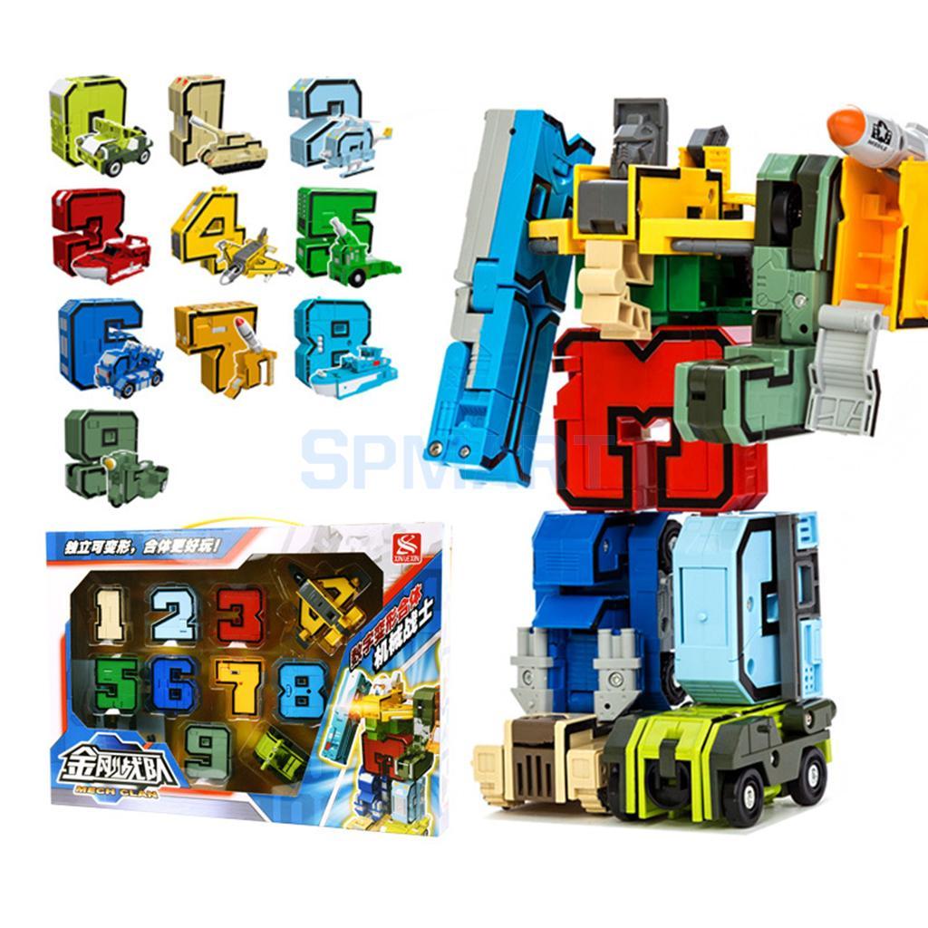 Números armadura equipo transformar robot de juguete educativos ...