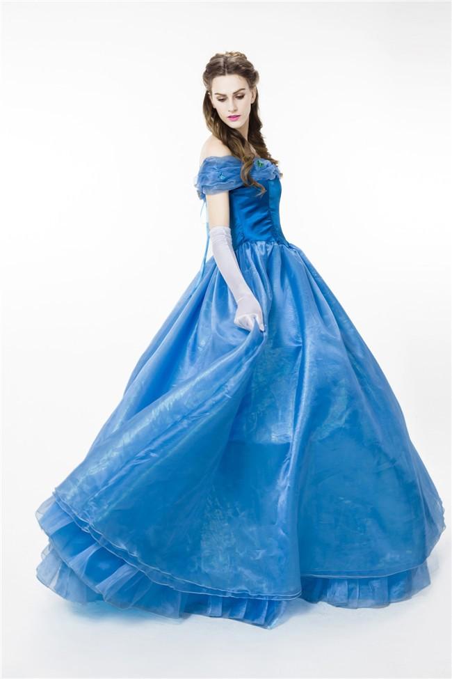 Vestido azul cenicienta letra