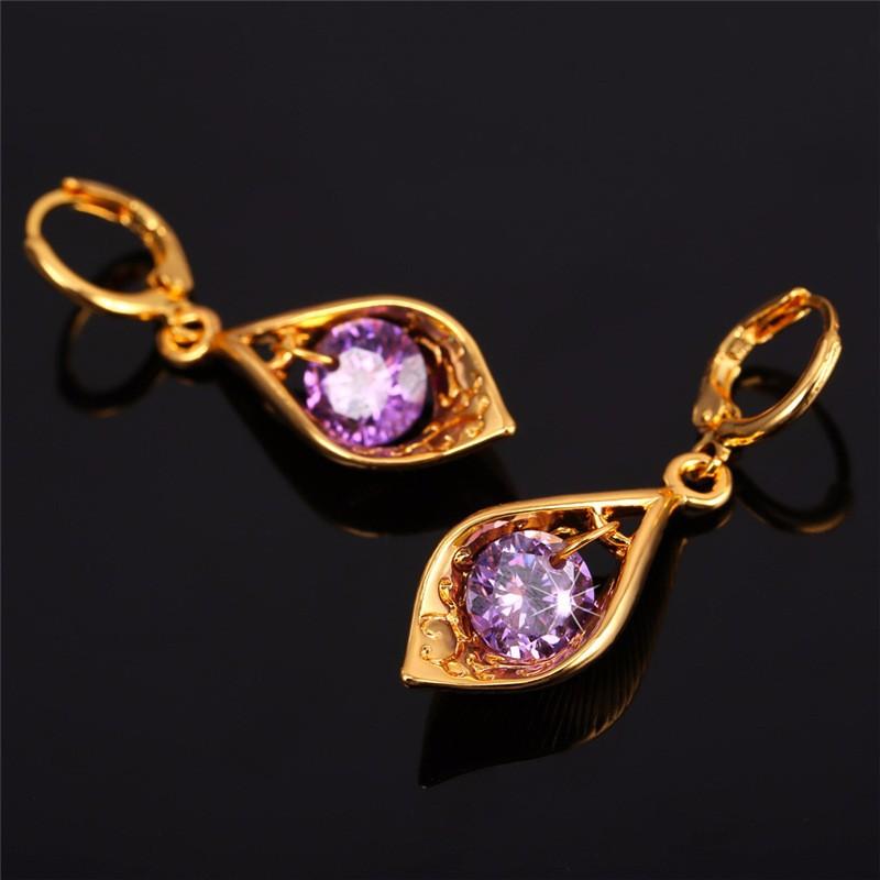 9f3cf230bdfd KPOP Фиолетовый Комплект Кулон Цепочки и ожерелья серьги подарок для ...