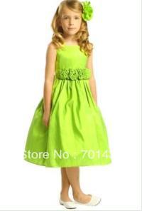 Popular Lime Green Flower Girl Dresses