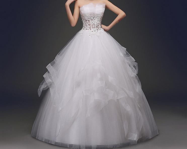 Corset Bodice Sheer Bridal Ball Crystal Beads Rhinestones