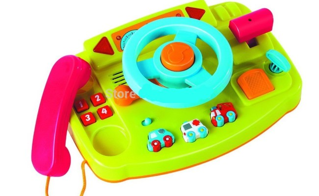 Free Shipping 2014 New Baby Driver Toys Steering Wheel