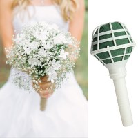Straight Stem Foam Bouquet Holders Handle Bridal Floral ...