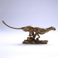 Modern Abstract Cheetah Sculpture Polyresin Leopard Statue ...