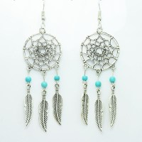 New fashion jewelry vintage silver plated Dream catcher ...
