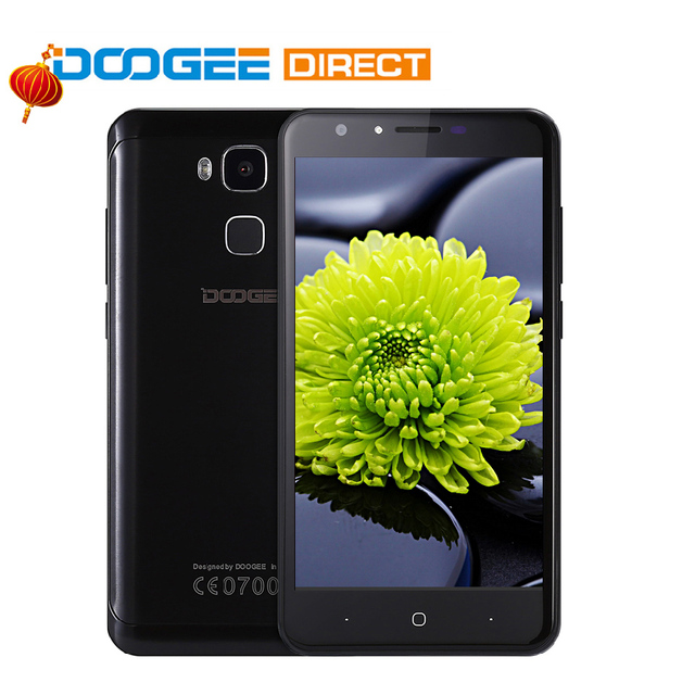 In Stock Doogee Y6 Smartphone 5.5 inch 1280x720 MT6750 Octa Core 4G LTE Mobile Phone 2GB+16GB Android 6.0 13MP Fingerprint ID