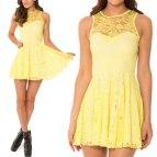 Yellow Lace Dress Plus Size Women