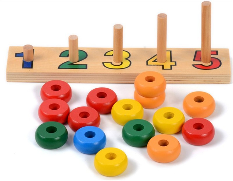 2019 New Wooden Toy Baby Toy Montessori Counting Disks