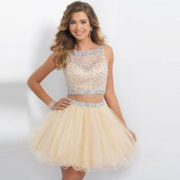 Two Piece Homecoming Dresses 2015 With Beading Custom Made ...